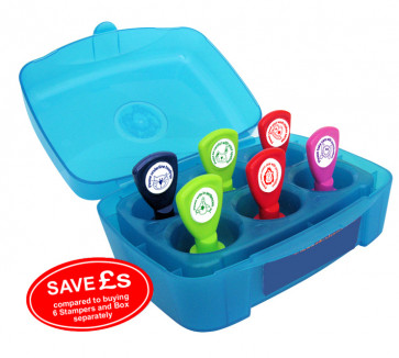 Teacher Stamps | 6 Self-inking Stamps Box Set