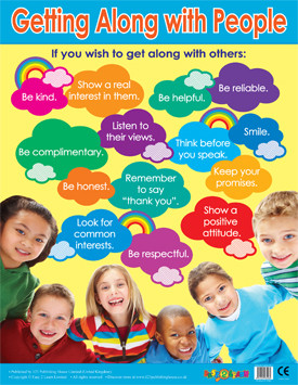 School Posters | Getting Along With People PSHE Learning Wall Chart