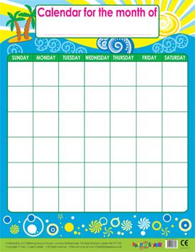 Wall Calendar | Monthly Calendar Wipe Off Poster