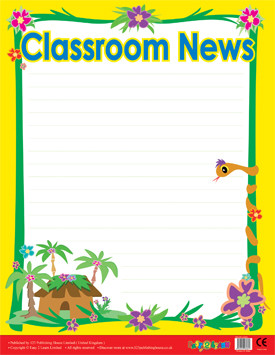 Classroom Teacher Resources | Class News Wipe Off Poster