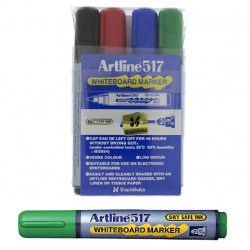 Whiteboard Markers | Artline EK517 - Wallet Set 4 Pens