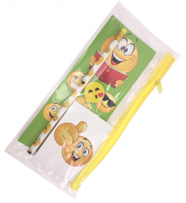 Emoji Gift | Filled Pencil Case with Emoji Stationery.