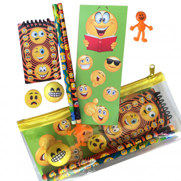 Emoji Gift | Filled Emoji Pencil Case with Stationery & Games!