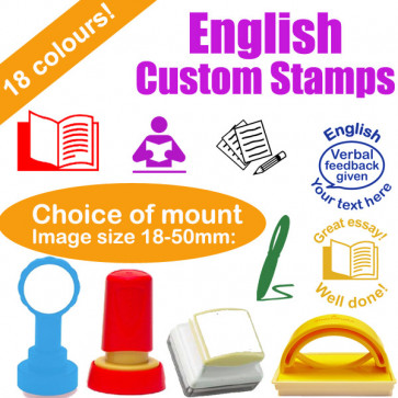 Custom Stamps | English Subject Personalised Teacher Stamps
