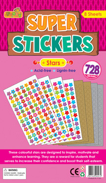 Teacher Stickers | Bumper Pack of Gold, Silver and Colourful Stars for Schools