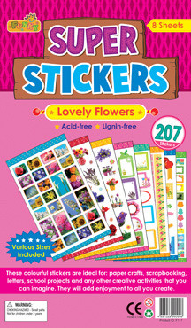 Children's Stickers | Lovely Flower Stickers - Ideal for School Projects and Crafts