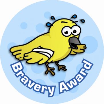 School Stickers | Bravery Award Sticker for Children