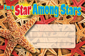 I'm a Star Among Stars Certificate Award