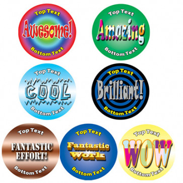 Personalised Stickers for Kids | Praise Word Designs to Customise for Teachers