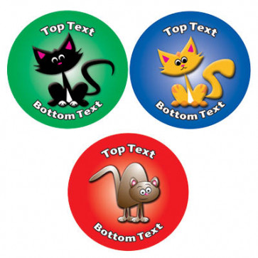Personalised School Stickers | Cute Cats! Design Custom Standard and Scented Stickers