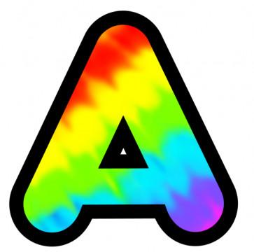 Tie-Dye Alphabet Letters