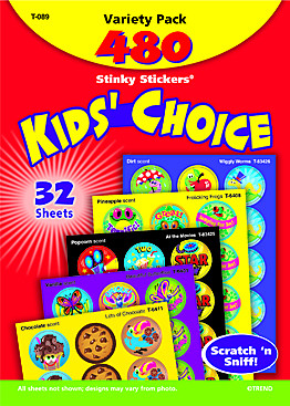 Smelly Stickers | Kids Choice Smelly Stickers Variety Pack