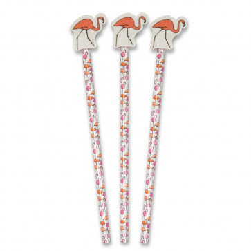Student Gifts | Flamingo Pencils with Large Eraser Ends