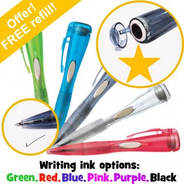 Stamper Pen | Fluorescent Orange Star Pen with Stamp