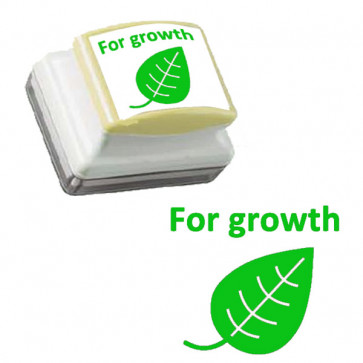Teachers Stamps | For Growth Self-inking Stamp - Green  Ink