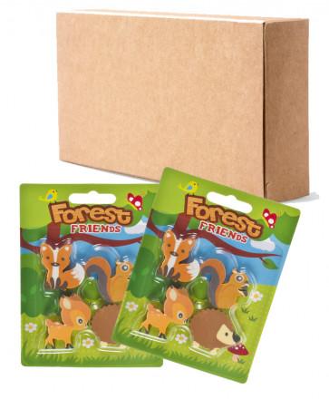 Bulk Kids Stationery | Cute Forest Friends Eraser Sets