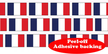 Roll Border | French Flag Self-Adhesive Border