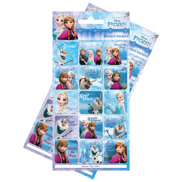 Premium Kids Stickers | Disney Frozen Re-usable Large Reward Stickers - 2 Packs