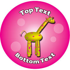 Personalised School Stickers | Giraffe Antics Design Custom Standard and Scented Stickers