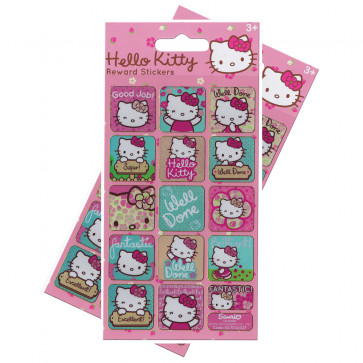 Premium Kids Stickers | Hello Kitty Re-usable Large Reward Stickers - 2 Packs