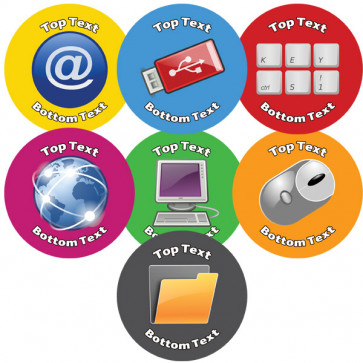 Personalised School Stickers | Mixed Computing ICT Reward! Design Custom Standard and Scented Stickers