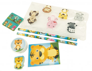 Jungle Stationery | Filled Jungle Animal Pencil Cases / Stationery Sets