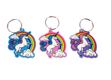 Party Bag Ideas / Class Gift | Set of 3 Rainbow Unicorn Keyrings