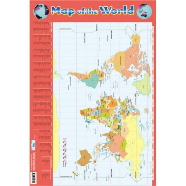 School Educational Posters | Map of the World Chart Poster