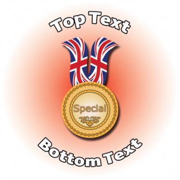 Personalised School Stickers | Sports Special Medal Design Custom Standard and Scented Stickers