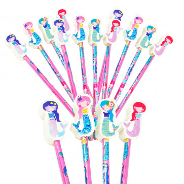 Class Gifts / Party Bags | Mystical Mermaids Topper Pencils