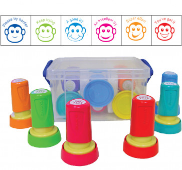 School Stamps | Monkey Design Teacher Marking and Praise Box Set