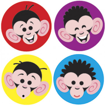 Kids Stickers | Monkey Mayhem School Stickers for Teachers