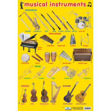 School Education Poster | Musical Instruments Reference Chart