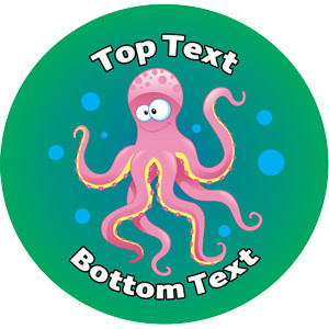 Personalised School Stickers | Octopus Sea Creature Design Custom Standard and Scented Stickers