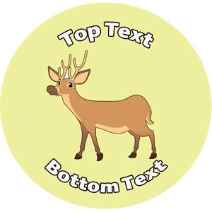 Personalised School Stickers | Delightful Deer-Animal! Design Custom Standard and Scented Stickers