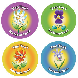 Personalised School Stickers | Fun Flower! Design Custom Standard and Scented Stickers
