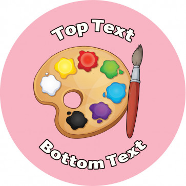 Personalised School Stickers | Art Palette Teacher! Design Custom Standard and Scented Stickers