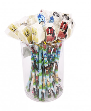 Bulk Stationery | Value Packs Pony/Horse Pencils with Large Eraser Ends