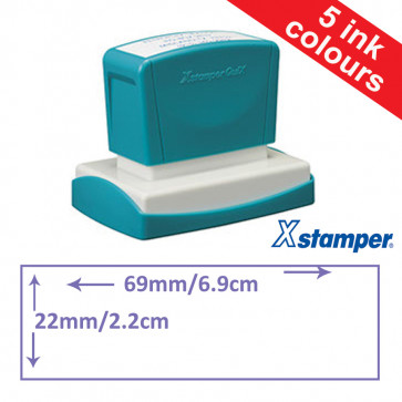 Custom Stamps | Quix Self-inking, Reinkable Xstamper 22x69mm