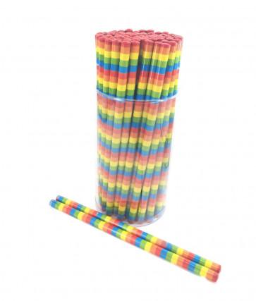 Class Gifts | Rainbow Stripes HB Pencils x 72