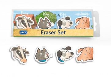 Kids Gifts | RSPCA Buttercup Farm Friends Eraser Set.