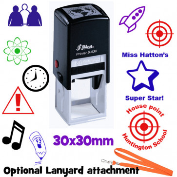 Custom School Stamps | 30mm Round or Square Personalised Stamper