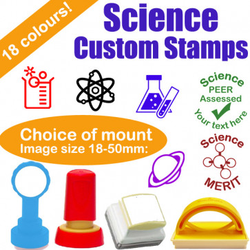 Custom Stamps | Science Subject Personalised Teacher Stamps