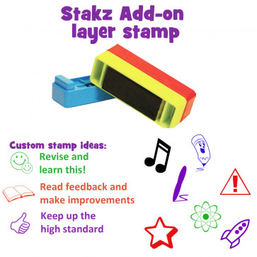 Custom School Stamps | Self-inking Multi-Stamper - 2 stack option