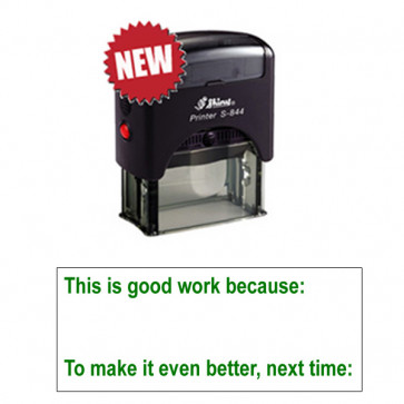 School Teacher Stampers | This is good work because: /  To make it even better, next time:  Self-inking Stamp