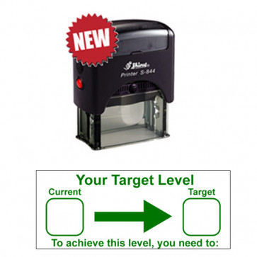 School Teacher Stampers | Your Target Level / Current / Target / To achieve this level you need to: