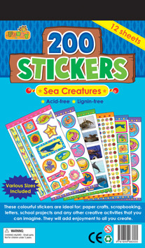 Childrens Stickers | Under the Sea - Sea Creature stickers variety pack including photo stickers