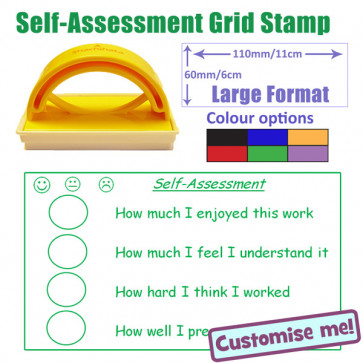 School Stamps | Self-Assessment 3 faces Stamp