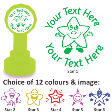 Custom Stamps | Smiley Star Stamp - Personalised Craft Stamps and Teacher Stamps