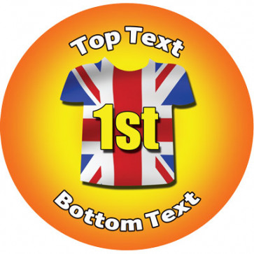 Personalised School Stickers | Union Jack 1st Place! Design Custom Standard and Scented Stickers